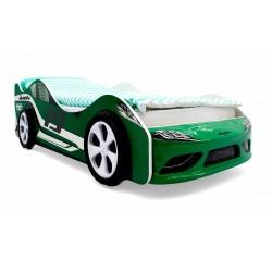 """Кровать-машина """"Супра"""" зеленая"""